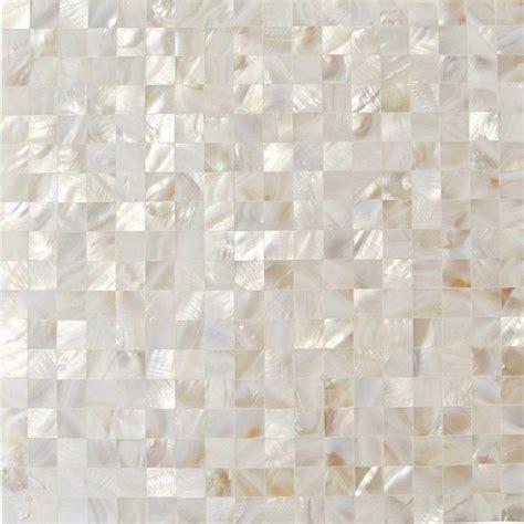 Splashback Tile Mother of Pearl White Square Pearl Shell
