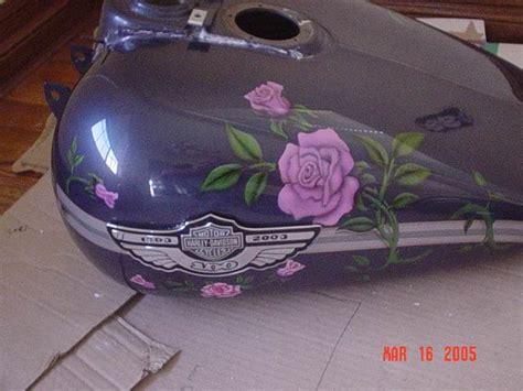 Custom Airbrush Motorcycle Paint Design