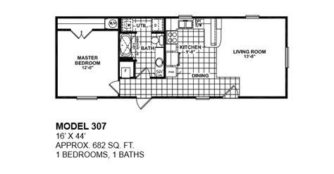 simple  bedroom mobile homes floor plans ideas house plans