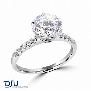 276 carat e vs2 round solitaire diamond engagement ring With 2 carat diamond wedding ring
