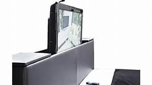 Lit Avec Tv Escamotable : meuble tv elevateur tete de lit table de lit ~ Nature-et-papiers.com Idées de Décoration