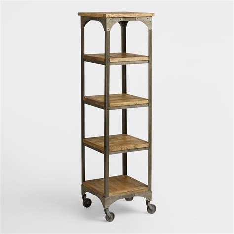 Metal Etagere Tower by Wood And Metal Aiden 201 Tag 232 Re World Market