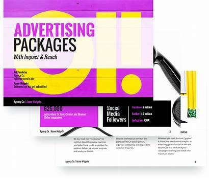 Proposal Advertising Template Sample Templates