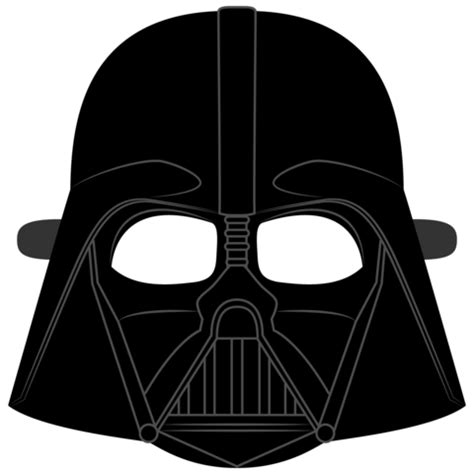 darth vader helmet mask template  printable
