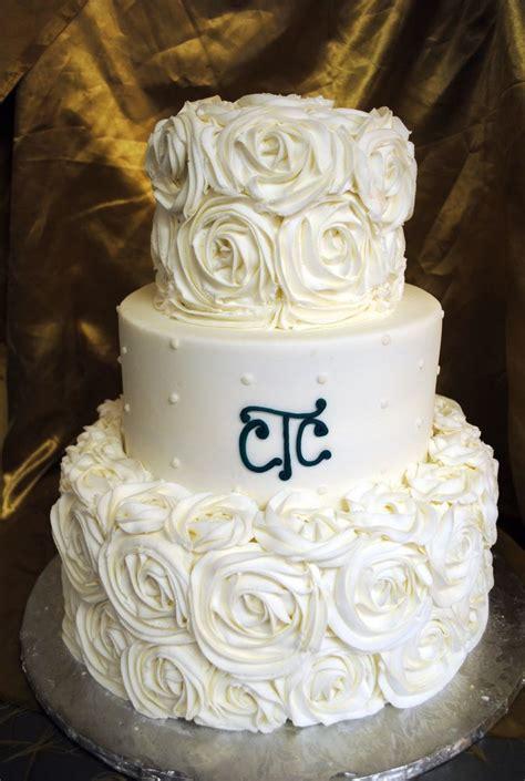 rosette wedding cakes ideas  pinterest