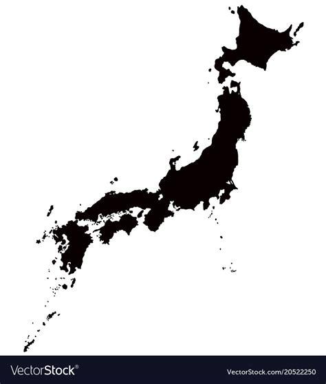 japan map outline royalty  vector image vectorstock