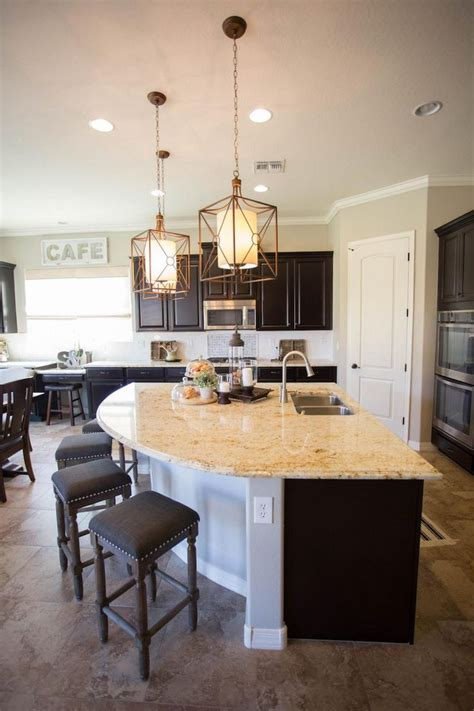 curved kitchen island 1000 ideas about large kitchen cabinets on pinterest hgtv kitchens dream kitchens and