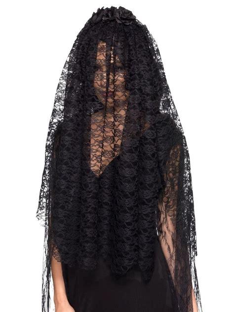 95 Black Widow Women Adult Halloween Veil Costume