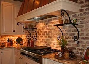 Brick Veneer Backsplash : Great Home Decor - Styles With