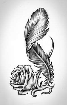Rose by bobby79 | Rose drawing tattoo, Feather tattoo design, Feather tattoos