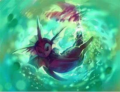 Vaporeon Pokemon Shiny Eeveelutions Wallpapers Purplekecleon Eevee