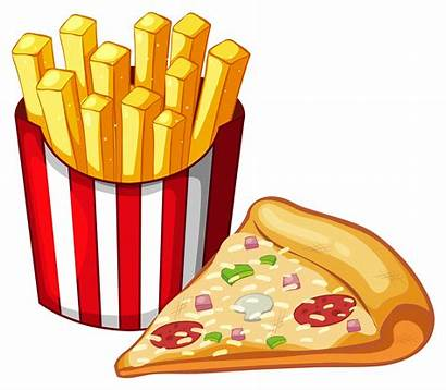 Pizza Fries French Bag Slice Vector Frenchfries