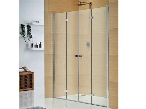 porte in cristallo per doccia box doccia in cristallo con porte a soffietto multi s 4000