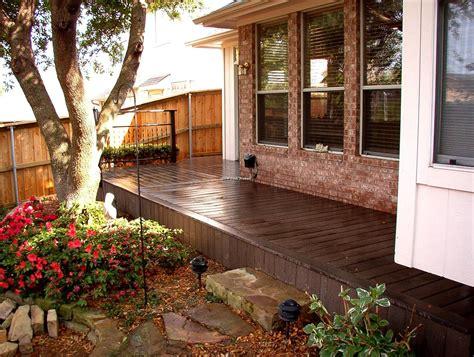 redwood color composite decking redwood color combine expose brick wall