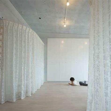 velvet curtain walls rich fabric divides  space