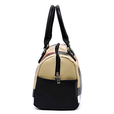 plaid check boston satchel bag ch bt classic bags monogram mezon handbags
