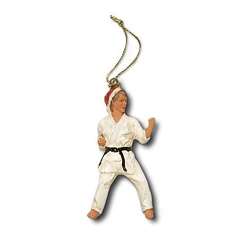 karate christmas ornament karate kid christmas figurine
