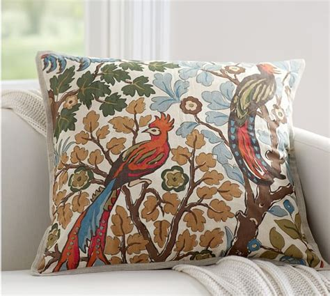 pottery barn large decorative pillows mayle bird pillow cover pottery barn