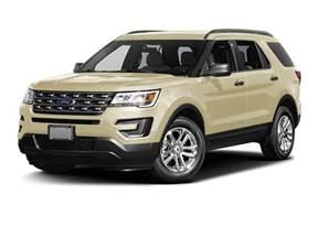 2017 Ford Explorer White Gold Colors