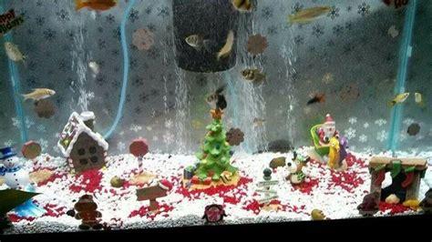 christmas fish tank fish  tanks pinterest