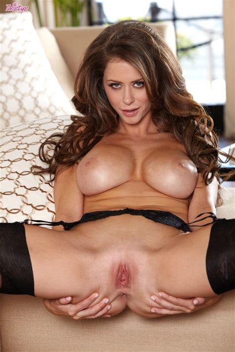 Emily Addison Black Stockings And Garters Redbust