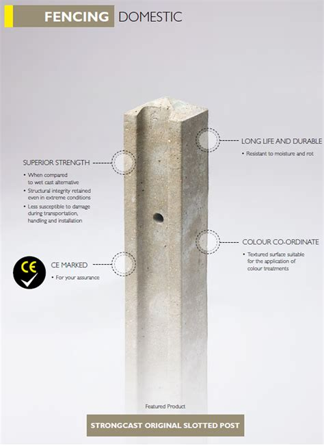 Strongcast Original Slotted Posts   Supreme Concrete