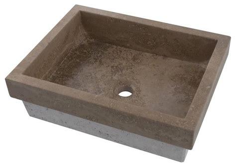 rectangular stone vessel sink belle foret bflt2ct rectangular stone vessel sink in noche