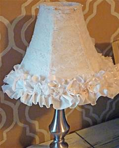 DIY Ruffle And Lace Lampshade Makeover