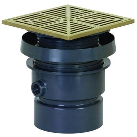 sioux chief adjustable floor drain sioux chief 3 in inside or 4 in outside sch 40 complete