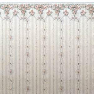 "1:48 Wallpaper ""Rose Swag"" Stewart Dollhouse Creations"