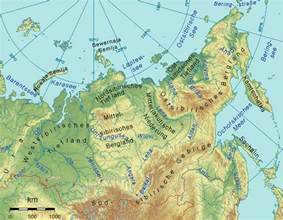 Arctic Ocean Europe and Siberia Map