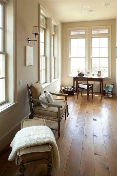 white oak wood floors home office rustic  baseboards