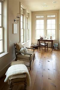 White Oak Wood Floors Home Office Rustic With Baseboards