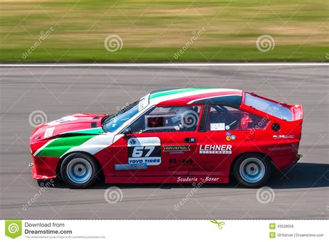 Classic Alfa Romeo Racing Car Editorial Stock Photo