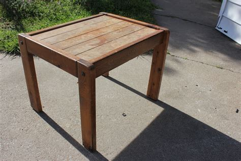 pdf diy diy wood end table diy workbench plans