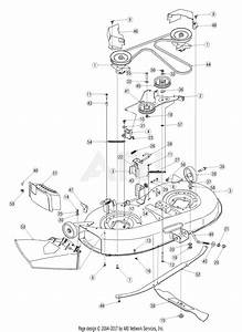Troy Bilt 13at609g766 Super Bronco  2005  Parts Diagram For Deck Assembly