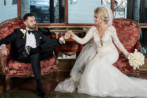 2017 Wedding Dresses Mermaid Style Lace Luxury Pearls