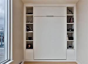lit escamotable double mur a mur avec rangement lit With meuble gain de place studio 1 lit relevable lit escamotable lit rabattable antony deco