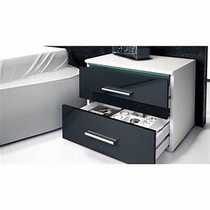 Nachttisch Schrank Weiß : nachtkonsole nachttisch kommode schrank faro in wei hochglanz naturt ne ebay ~ Indierocktalk.com Haus und Dekorationen