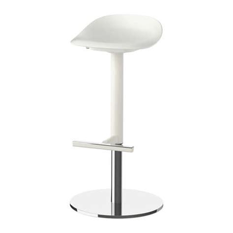 chaise de bar blanc janinge tabouret de bar ikea