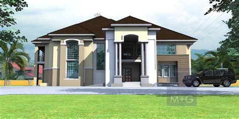 contemporary nigerian residential architecture  bedroom mansion