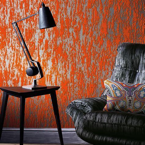 der garten orange is the new black tapete aus der astratto kollektion romo black auf deco de