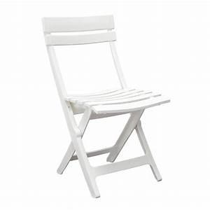 Chaise De Jardin Blanche : grosfillex chaise de jardin miami pliante blanc chaise ~ Dailycaller-alerts.com Idées de Décoration