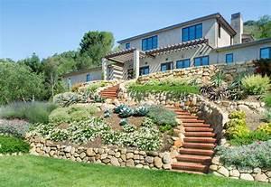 House On The Hill Mediterranean Landscape Santa