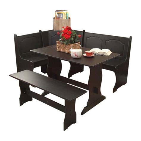 corner bench dining table set shop tms furniture nook black dining set with corner