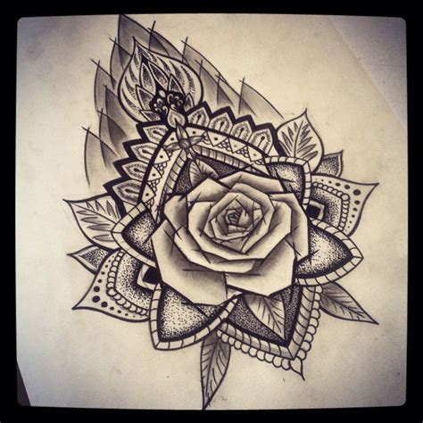 mandala rose ab roses pinterest tatouage