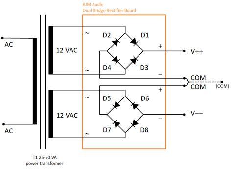 dual bridge rectifier pcb diyaudio