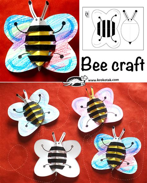 krokotak bee craft
