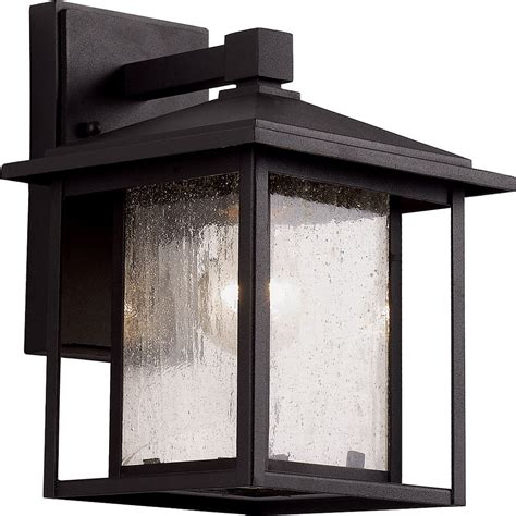 trans globe square seeded exterior wall light fixture tra