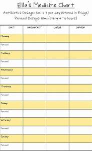 blank printable medication chart medication chart